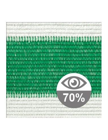 Malla de sombreo bicolor  70%
