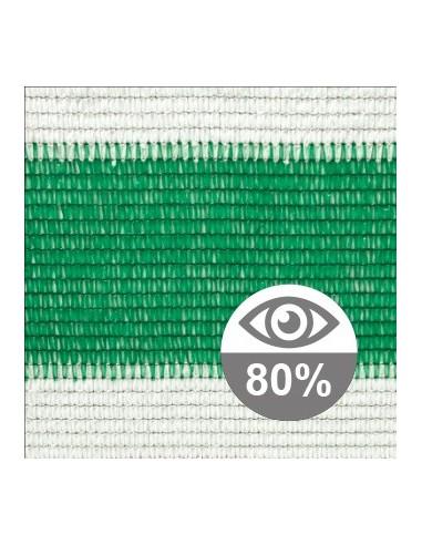 Malla de sombreo bicolor 80%