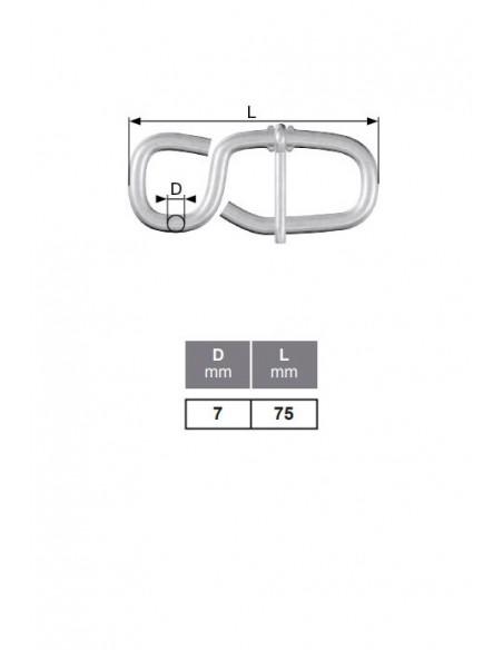 Ajustador de cuerda - detalle medidas
