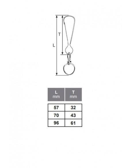 Gancho simple - detalle medidas