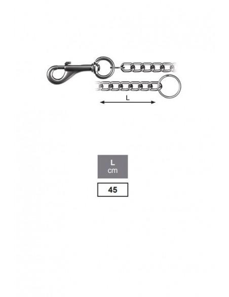 Llavero con cadena - detalle medidas