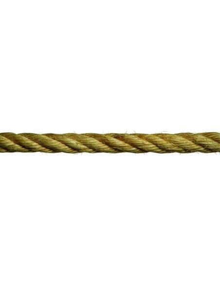 Cuerda cableada cáñamo detalle