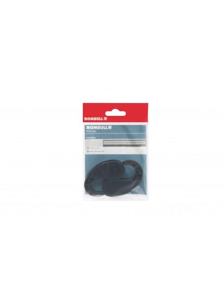 Gancho plástico negro para cuerda elástica - presentación