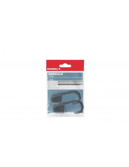 Gancho metálico plastificado para cuerda elástica - presentación