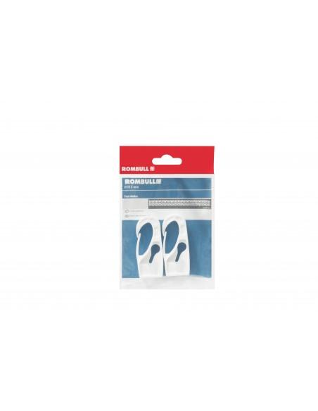 Gancho plástico blanco para cuerda elástica - presentación