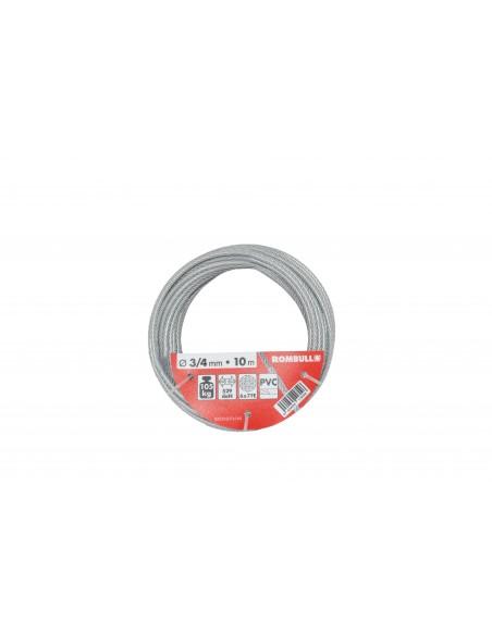 Cable de Acero Cincado Plastificado en PVC