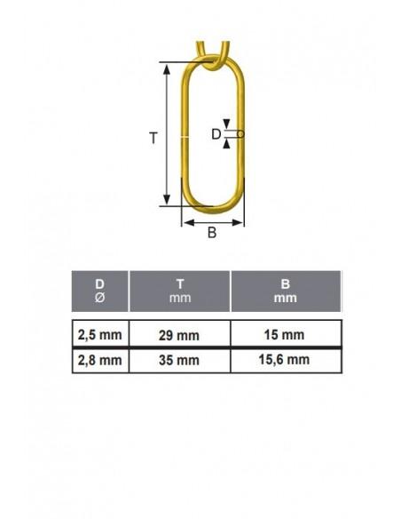 Cadena Decoración - precortada - detalle medidas