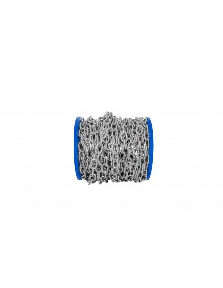 Cadena de Acero Inoxidable de eslabones semilargos - presentación carrete