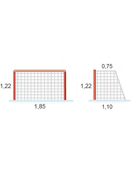 Redes Hockey Hielo y Patines en Polipropileno - medidas