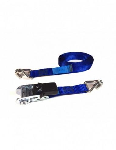 Trincaje PES 25mm/5m ganchos J azul
