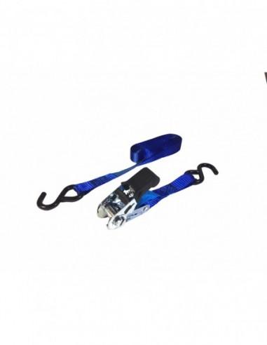 Trincaje PES 25mm/5m ganchos azul