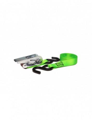 Trincaje PPM 25mm/4m ganchos S verde fluor