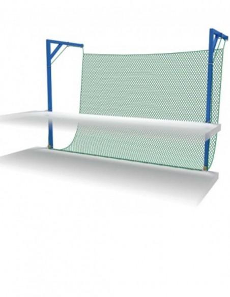 Red de seguridad sistema V con cuerda perimetral