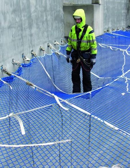 detalle de red de seguridad de posicionamiento en el trabajo.