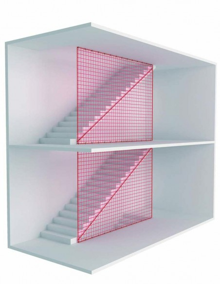 Red de seguridad sistema U en hueco de escaleras